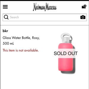 bkr Glass Water Bottle Rosy